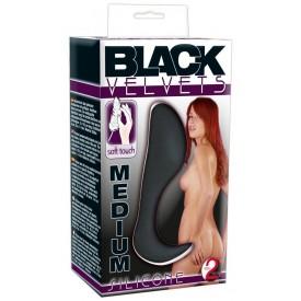 Анальный стимулятор с изогнутым стволом Black Velvet - 10,5 см.