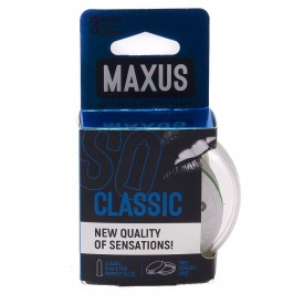 Классические презервативы в пластиковом кейсе MAXUS Classic - 3 шт.